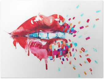 Poster Lips