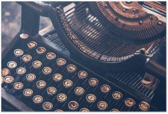 Poster Machine à écrire antique