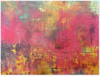 Poster Main abstrait coloré toile peinte fond texture