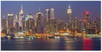 Poster Manhattan på natten
