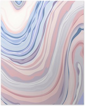 Poster Marble Pattern - Abstract structuur met een zachte pastelkleurenkleuren 2016