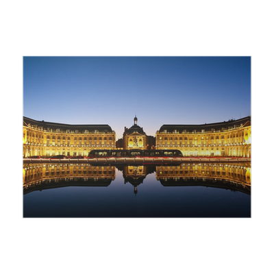 Miroir d 39 eau bordeaux poster pixers we live to change for Miroir d eau bordeaux