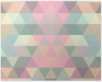 Poster Mosaik triangel bakgrund. geometrisk bakgrund