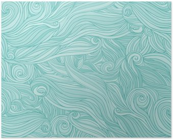 Poster Naadloos abstract patroon, verwarring golvend haar achtergrond