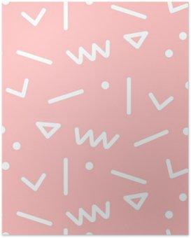 Poster Naadloze geometrische patroon