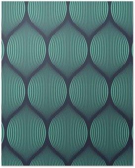 Poster Néon Seamless bleu illusion motif tissé vecteur optique