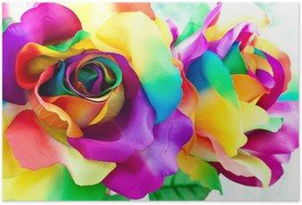 Poster Nep roze bloem