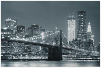 Poster New york city brooklyn bridge