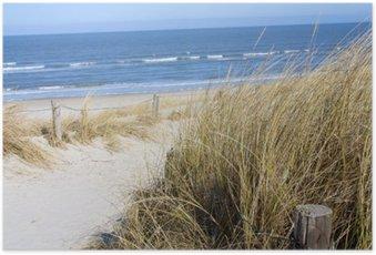 Poster Nordsee plage