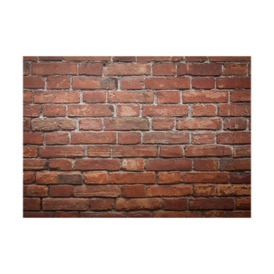 Old grunge red brick wall texture Poster • Pixers® • We ...
