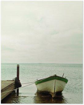 Poster Oostzee en boot landschap