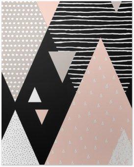Póster Paisaje abstracto geométrico