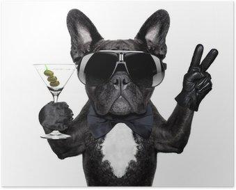 Poster Paix cocktail chien