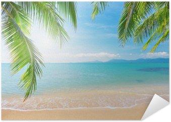 Poster Palm och tropisk strand