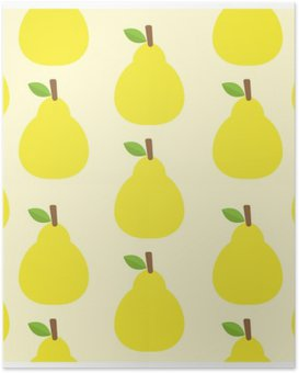 pattern vector background Cute fruit color Look delicious Round- Poster
