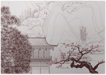 Poster Paysage chinois