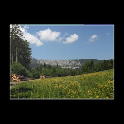 Paysage du haut doubs poster pixers we live to change - Poster muurschildering paysage ...
