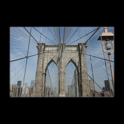 poster pont de brooklyn new york pixers nous vivons pour changer. Black Bedroom Furniture Sets. Home Design Ideas