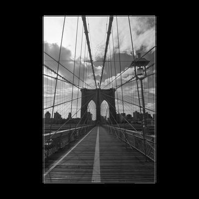 poster pont de brooklyn noir et blanc new york pixers nous vivons pour changer. Black Bedroom Furniture Sets. Home Design Ideas