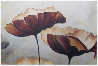 Poster Poppy abstract schilderij