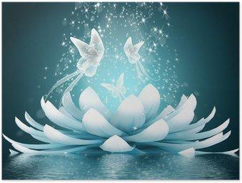 Poster Prachtige lotusbloem