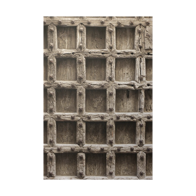 P ster puerta vieja de madera con clavos fondo textura for Puerta vieja madera