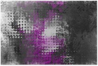 Poster Résumé de fond grunge avec gris, blanc et violet
