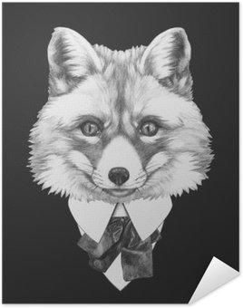 Póster Retrato de Fox en el juego. Dibujado a mano ilustración.
