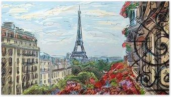 Poster Rue de Paris - illustration