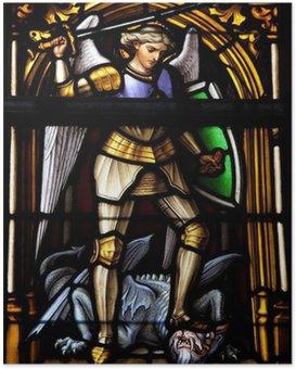 Poster Saint Michael - patroonheilige van Brussel