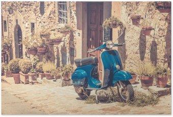 Poster Scooter en Toscane