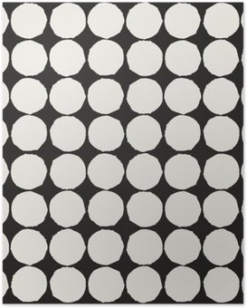 Poster Seamless avec des éléments géométriques graphiques