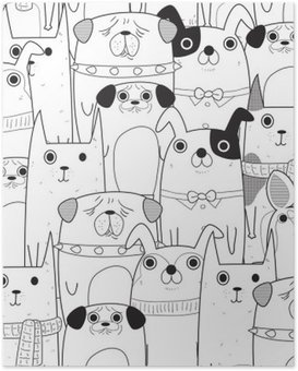 Poster Seamless chiens