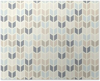 Seamless geometric pattern in pastel tints Poster