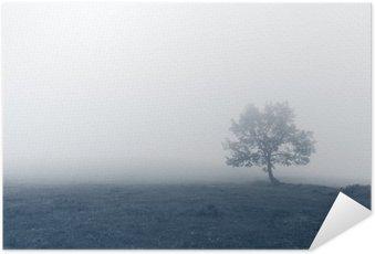 Poster Solitärträd med dimma