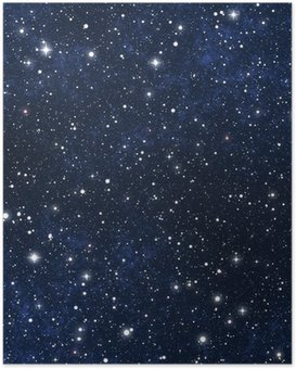 star filled night sky Poster
