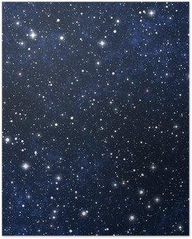 Poster Ster gevulde nachtelijke hemel