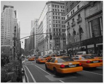 Póster Taxis en Manhattan