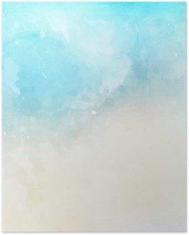 Poster Texture de fond aquarelle