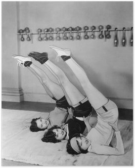 Three women exercising Poster
