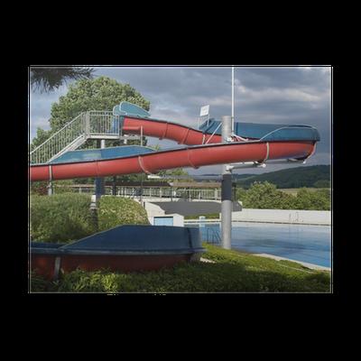 Poster toboggan de piscine pixers nous vivons pour - Piscine luxembourg toboggan ...