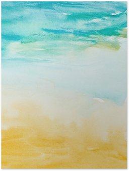 Poster Touches de couleurs aquarelle art peinture