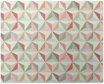 Triangle seamless pattern 1 Poster