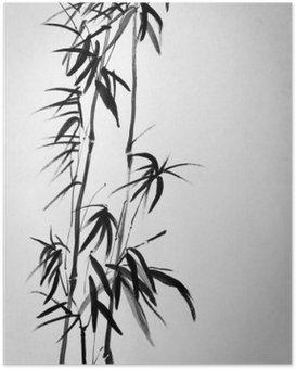 Poster Twee bamboe