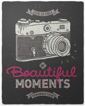 Poster Uitstekende fotocamera