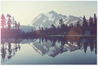 Poster Un lac pittoresque