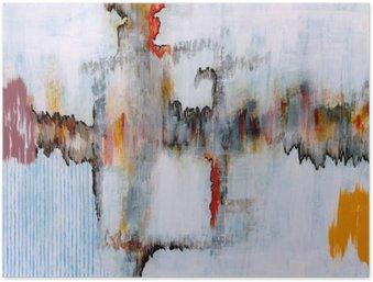 Póster Una pintura abstracta