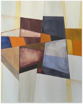 Poster Une aquarelle abstraite moderniste