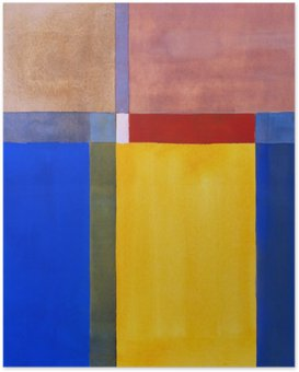 Poster Une peinture abstraite minimaliste