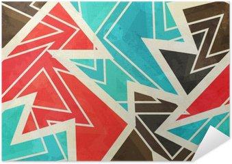 Poster Ungdom geometriskt seamless med grunge effekt
